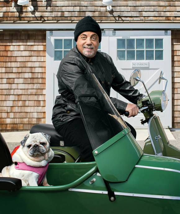 Billy Joel and pup